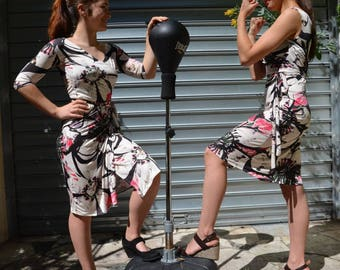 women cotton bellissima luck Zania sleeve wrap dress
