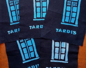 Dr. Who Time Machine T.A.R.D.I.S. Screen Printed Patch