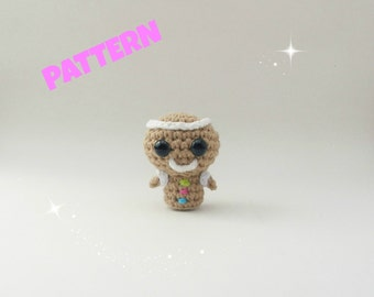 Amigurumi Gingerbread Man Pattern, Crochet Christmas Pattern, Amigurumi Christmas Pattern, Amigurumi Doll Pattern, Crochet Doll Pattern