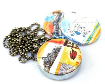 Greece Locket - Budapest Locket - Venice Locket - Travel Magnetic Necklace by Polarity and Stephanie Levy