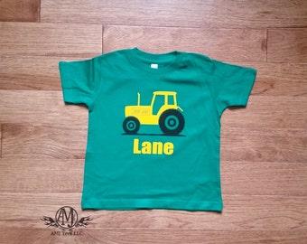 Tractor birthday shirt, personalized farm birthday shirt, toddler shirt
