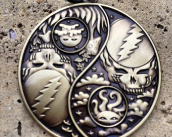 Night And Day Grateful Dead Yin Yang Pendants, By Artist Melanie Bodnar