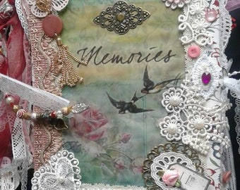 "Vintage Junk journal ""Memories"""