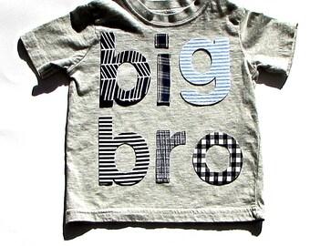 lil bro .... mid bro ... big bro....Fabric Iron On Appliques