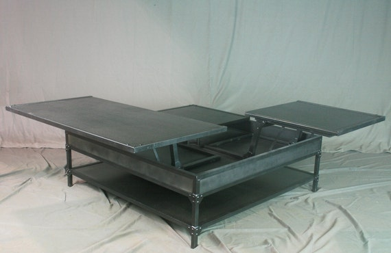 Beautiful Double Lift Top Coffee Table. Adjustable Height Coffee Table.