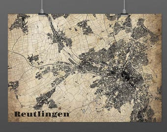 Reutlingen DIN A4 / DIN-A3 - print - turquoise