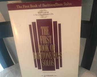 The first book of baritone/bass solos with 2 cds