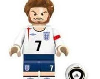 DAVID BECKHAM custom minifigure 100% Lego Compatible soccer football star