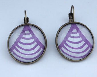 Earrings 20mm glass cabochon Stud Earrings