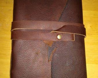 Hand bound leather journal