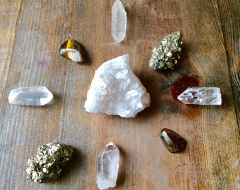 Manifesting Abundance Crystal Grid Set