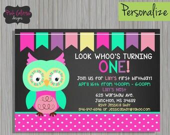 Owl invite girl owl invitation owl birthday party look owl first birthday owl first birthday invite owl invite owl invitation look filmwisefo