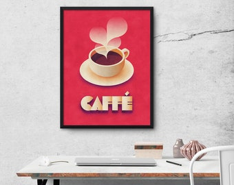 Art Deco Vintage Retro Coffee Poster Art Print