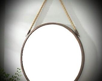 Mirror / Metal Mirror / Round Mirror / Round Wall Mirror / Port Hole Mirror / Rustic Mirror / Wrought Iron Mirror / Port Hole Mirror