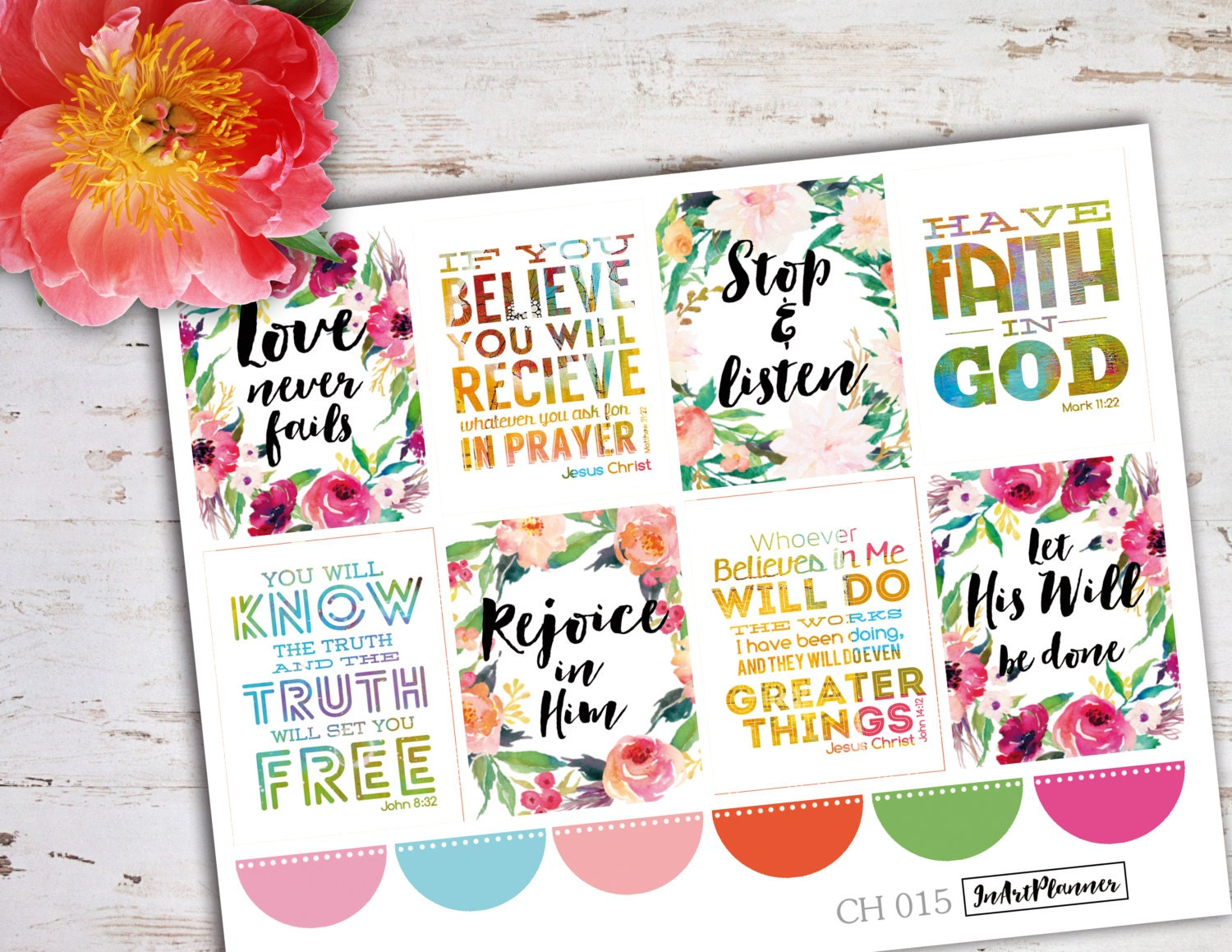Bible Quotes About Happiness Christian Stickers Bible Verse Bible Stickers Planner