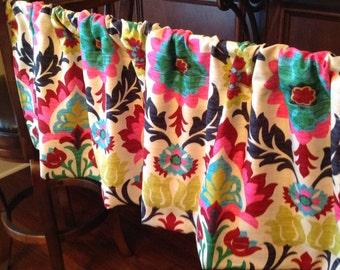 Ready to ship...Valances (54' X 16')  unlined WAVERLY Desert flower Santa Maria high quality fabric