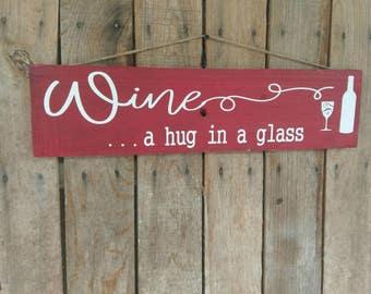 Wine Lovers Wood Sign Wine Home Decor