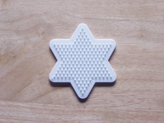 Perler Bead White Star Pegboard Ironing Paper Instructions