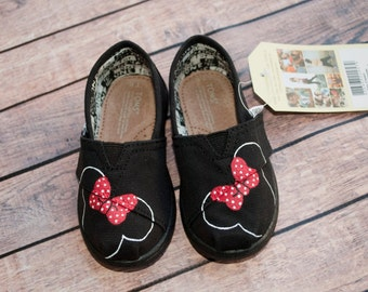 Minnie Mouse Tiny Toms Baby Shoes
