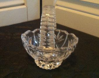 Princess House Small Crystal Basket