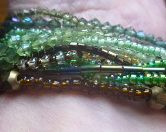 seed bead bracelets for supplies, green and brownseed bead supplies