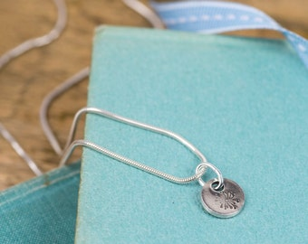 Fine Silver Dandelion Seed Charm Necklace - Silver Dandelion Seed Pendant - Dandelion Charm Necklace - Silver Dandelion Seed Charm - Pendant