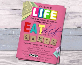 Game Night Invitation