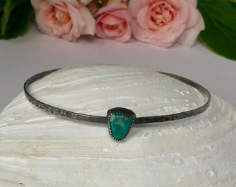 Silver and Turquoise Handmade Bracelet