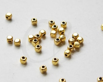 100pcs Oxidized Gold Tone Base Metal Spacers- 3.5mm (8874Y-M-210)