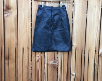 Vintage 80's Leather Mini Skirt