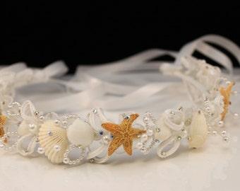 Seashell Headpiece/ Bridal/ Flowergirl/ Wedding/ Destination Wedding