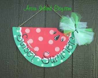 Watermelon Wood Door Hanger to add a splash of color, fun, and personality to any door!