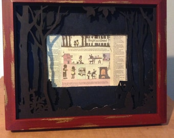 Upcycled Hansel and Gretel Themed Picture Frame