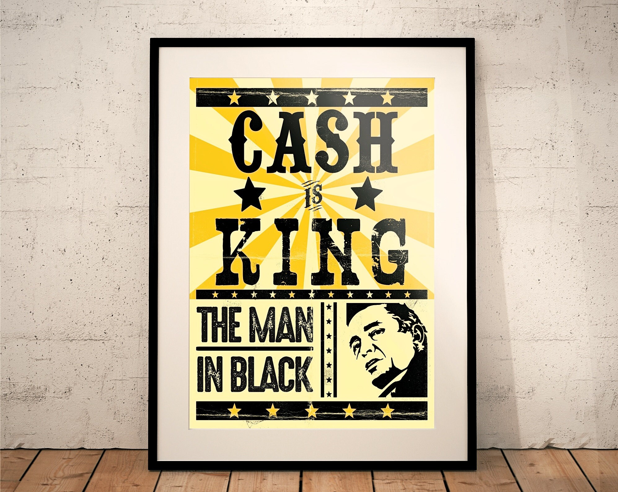 Dorable Johnny Cash Wall Art Gift - The Wall Art Decorations ...