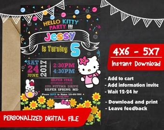 Hello Kitty Birthday,Hello kitty Birthday Invitation,Hello Kitty Invitation,Hello Kitty Party,Hello Kitty Invitation Party,Hello Kitty-SL194