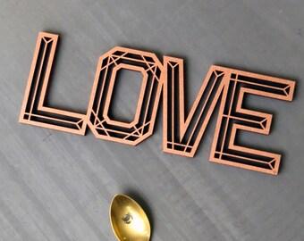 Love - wood lettering
