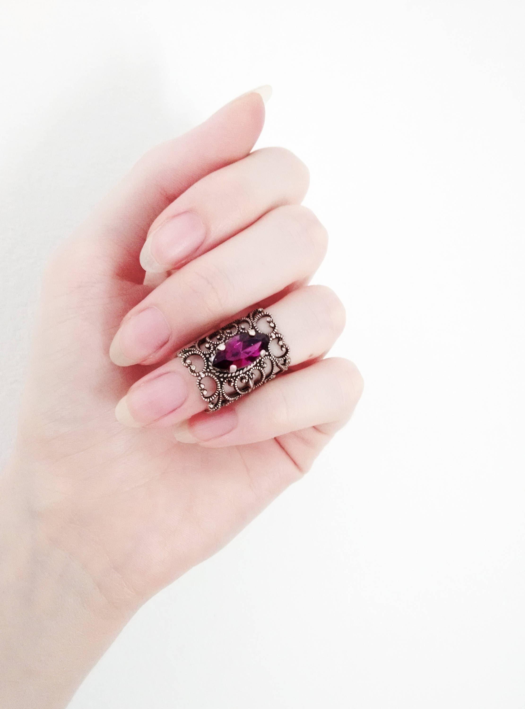 Midi Ring Filigree Gothic Ring Victorian Ring Gift for Women