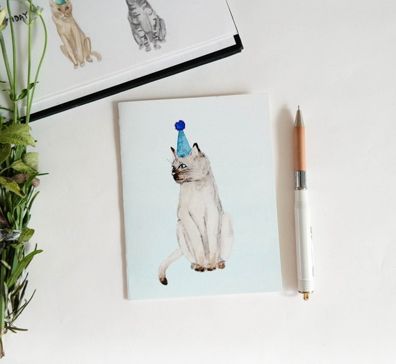 Greeting Card: Party Cat III