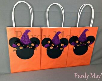 Minnie Mouse Halloween Goodie Bags, Halloween, Treat Bags, Halloween Party Favor Bags, Halloween Party Supplies, Halloween Party