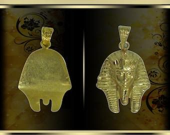 Egyptian Hallmarke 18 Karat Gold pendant, ancient Egypt Pharao's King Tut Mask