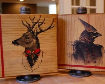 Buck You, General - Wood Art - Bird/Dear