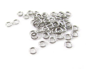 50pcs, 4mm Stainless Jump Rings, 20ga, Stainless Steel Jump Rings, Stainless Steel Jumprings Open Round Jump Rings Connectors, Chainmail