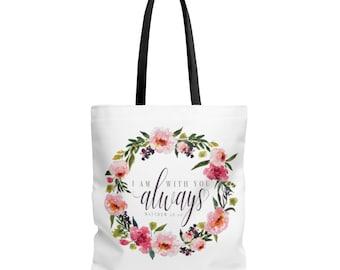 Bible Study Tote Bag / Scripture Tote Bag / Bible Verse Tote / Jesus Tote / Christian Gift / Women Gift / Bible Verse Bag / Bible Journaling