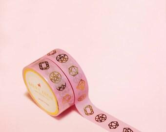 JEWEL WASHI TAPE | Masking Tape | Korean Washi Tape | Rabbit Tape | Deco Tape | Scrapbooking | Japanese Tape | Diy | Planner Stickers | Pink