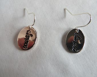 always Earrings , Earrings, Oval, always, Dangle, Rose Gold, Silver