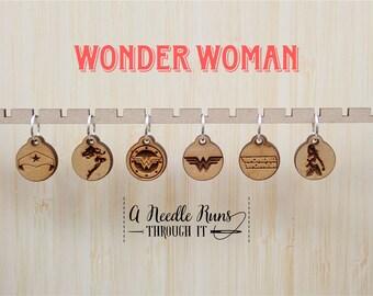 Wonder Woman inspired Stitch markers set, sock knitter, knitter gift, snag free stitch markers, magical stitch markers