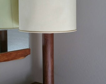 Walnut and Lucite table lamp