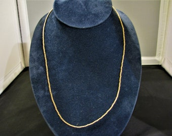 c832 Pretty Gold Filled Ball Beaded Necklace
