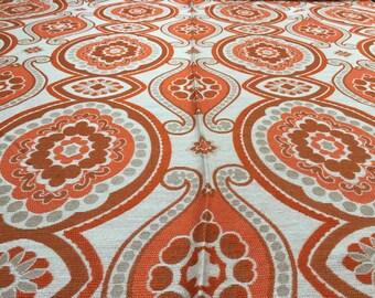 Vintage 70s Fabric 50 x 120 cm ornament pattern
