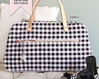 Retro Travel Bag Sewing Pattern PDF